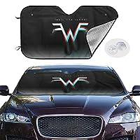 サンシェード フロントシェード 車用 紫外線対策 遮熱 Weezer ウィーザー Feels Like Summer カーフロントカバー 吸盤取付 普通車/軽自動車/SUVに適用