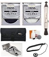 HoyaアルファUV HMC multi-coated +アルファCircular Polarizer cir-plガラスフィルタ+ポーチ+アクセサリキット