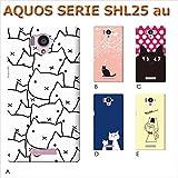 AQUOS SERIE SHL25 (ねこ03) B [C007202_02] 猫 にゃんこ ネコ ねこ柄 アクオス スマホ ケース au