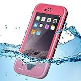 KYOKA iPhone6 iPhone6s 防水ケース 指紋認証対応 防水 耐震 防塵 耐衝撃 IP68 アイフォン6s 防水ケース 防水カバー (iPhone6/6s, ピンク)