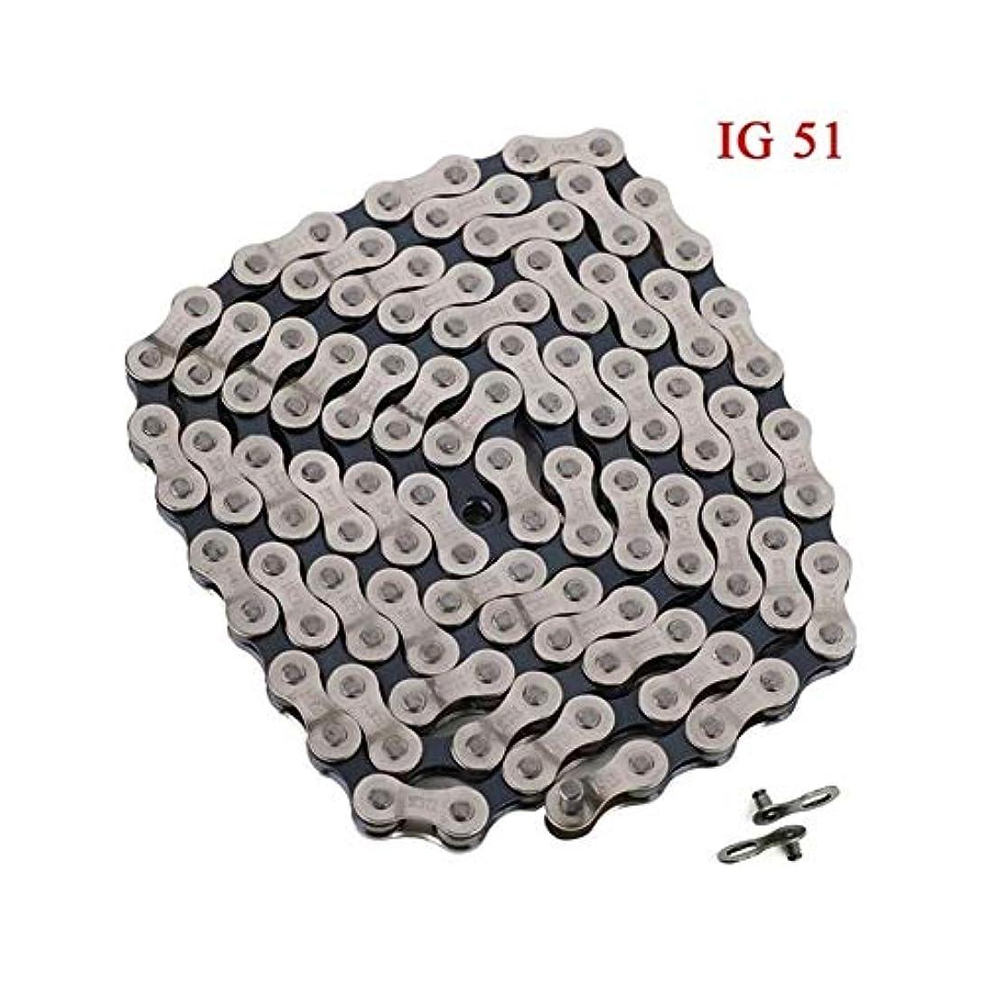 ケーブル準拠怪物FH-28 自転車スポーツアクセサリー可変速チェーンのための116のリンク6S、7S 8SpeedマウンテンバイクチェーンIG51フリーホイール?シフトチェーン (Color : IG 51)
