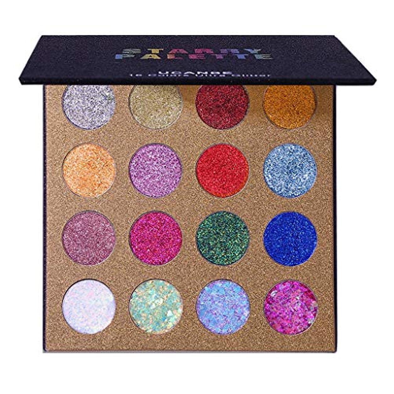 空中芽ギャザーGOOD lask 16色のきらめきのきらめきのアイシャドウの粉のアイシャドウの化粧品の構造