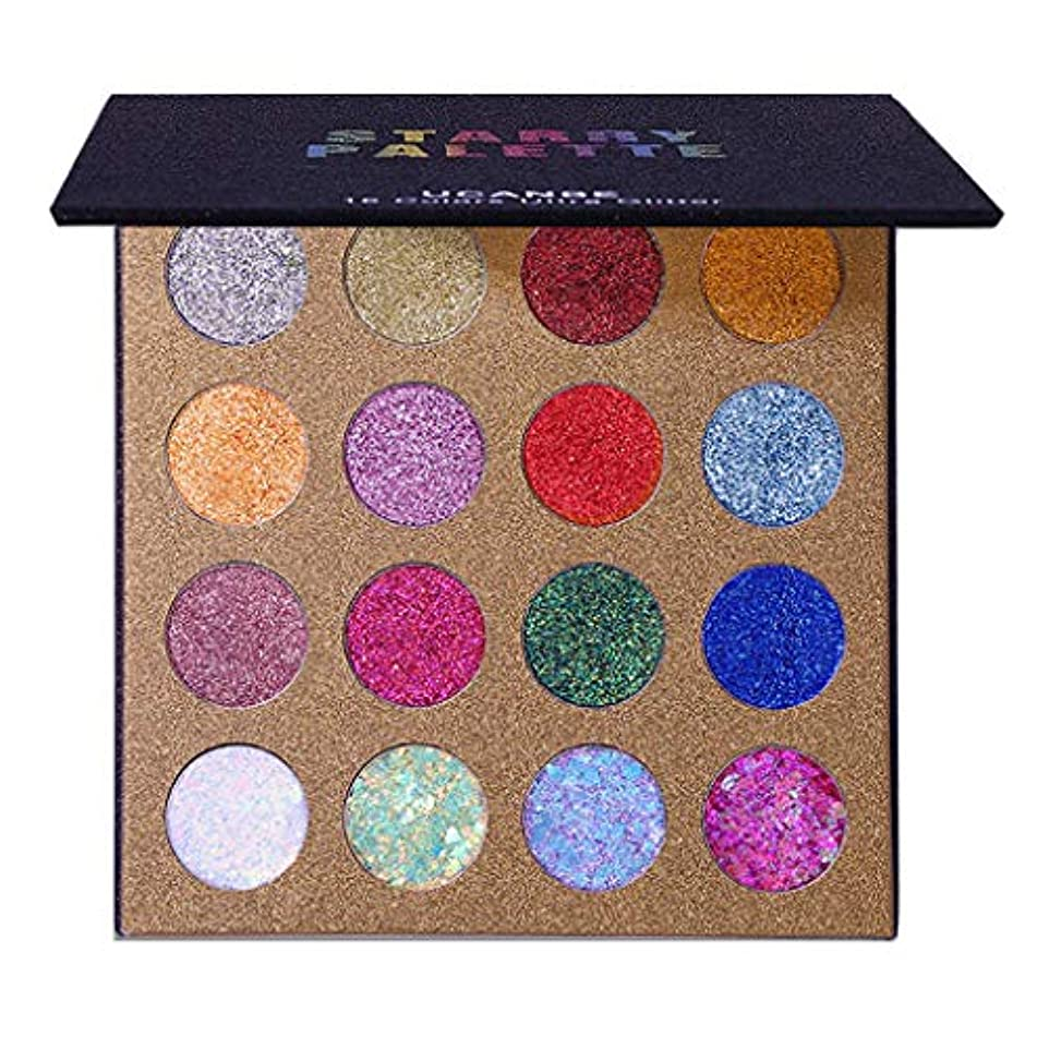 買い手つかまえるクリックGOOD lask 16色のきらめきのきらめきのアイシャドウの粉のアイシャドウの化粧品の構造