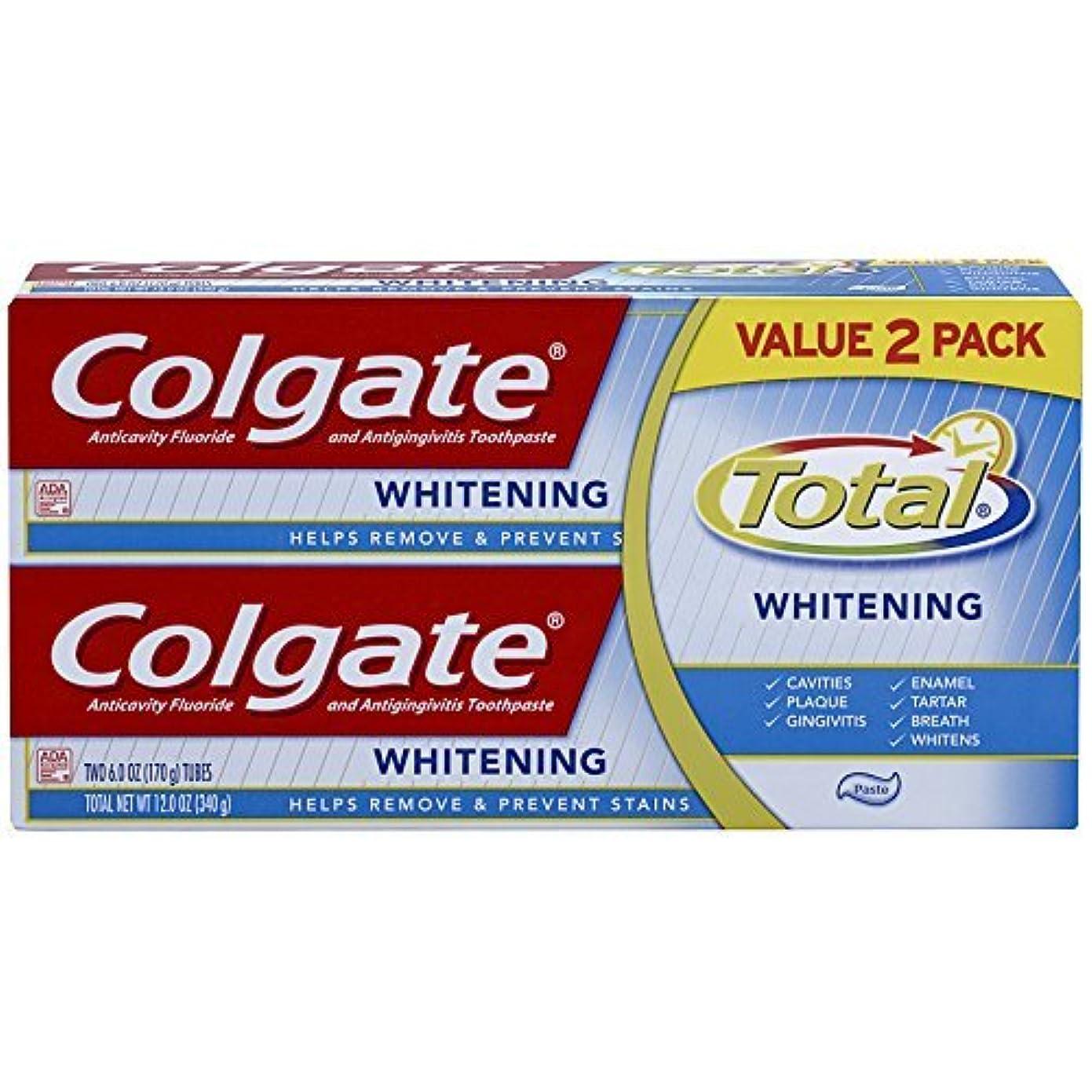 アスリート愛おかしいColgate Total Whitening Toothpaste Twin Pack - 6 ounce [並行輸入品]