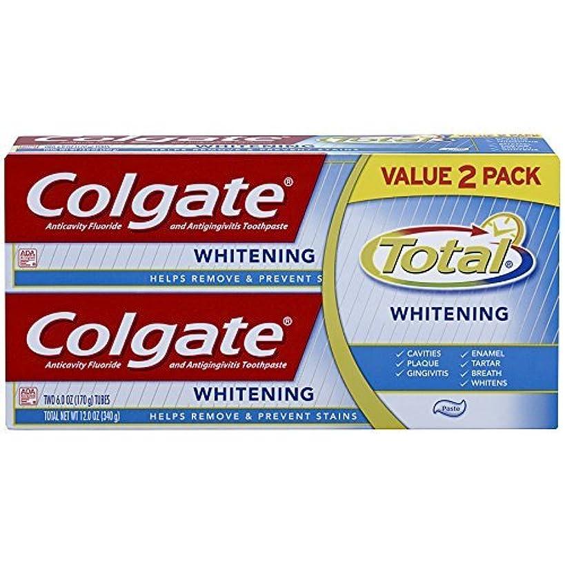 請願者再び挨拶するColgate Total Whitening Toothpaste Twin Pack - 6 ounce [並行輸入品]