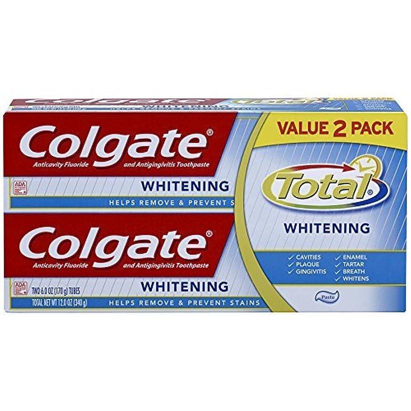 まぶしさ希少性概要Colgate Total Whitening Toothpaste Twin Pack - 6 ounce [並行輸入品]