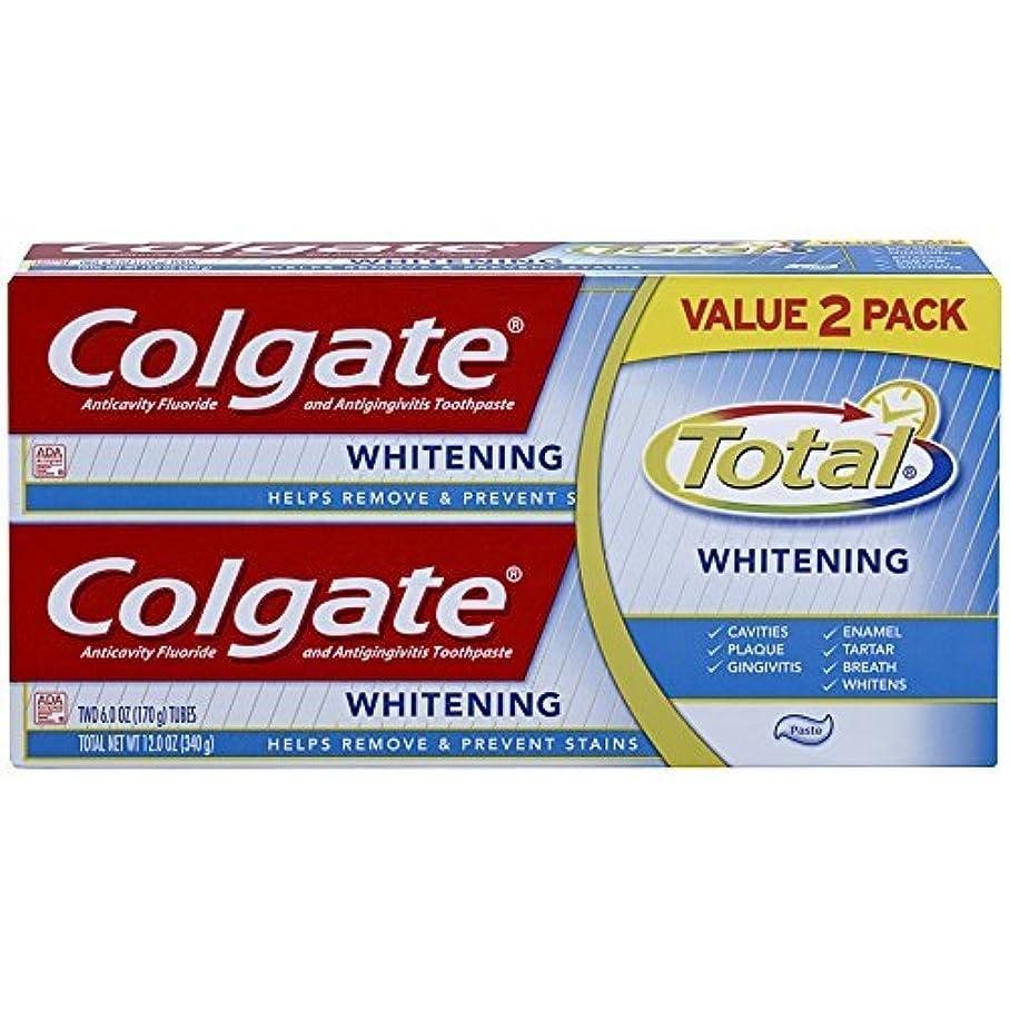 回転するぐるぐるムスColgate Total Whitening Toothpaste Twin Pack - 6 ounce [並行輸入品]