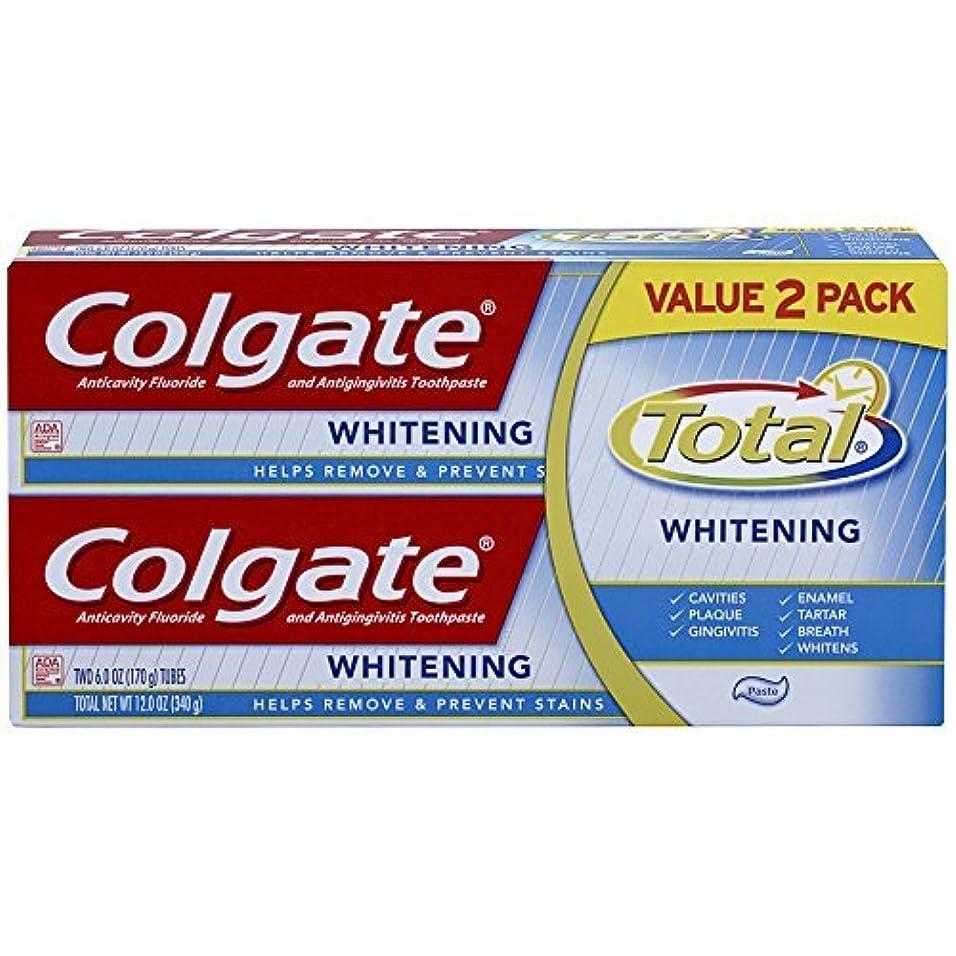公コンバーチブル到着Colgate Total Whitening Toothpaste Twin Pack - 6 ounce [並行輸入品]