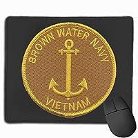 ブラウンウォーター海軍ベトナムロゴ マウスパッド ノンスリップ 防水 高級感 習慣 パターン印刷 ゲーミング ホビー 事務 おしゃれ 学習