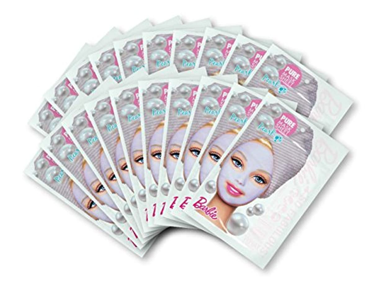 十分ですディレクトリ罰バービー (Barbie) フェイスマスク ピュアマスクシートN (パール) 25ml×20枚入り [保湿] 顔 シートマスク フェイスパック