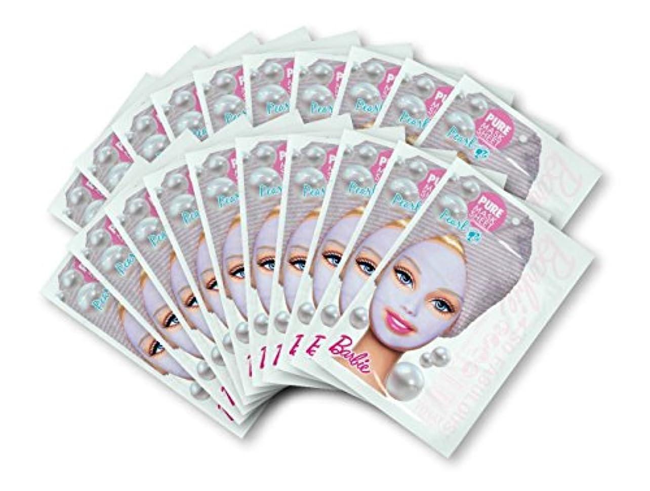 月面ファウル対バービー (Barbie) フェイスマスク ピュアマスクシートN (パール) 25ml×20枚入り [保湿] 顔 シートマスク フェイスパック