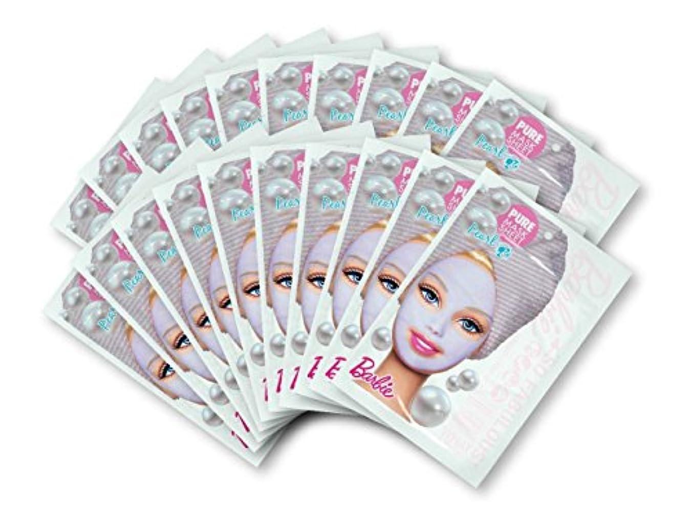 人工的ないちゃつく法廷バービー (Barbie) フェイスマスク ピュアマスクシートN (パール) 25ml×20枚入り [保湿] 顔 シートマスク フェイスパック