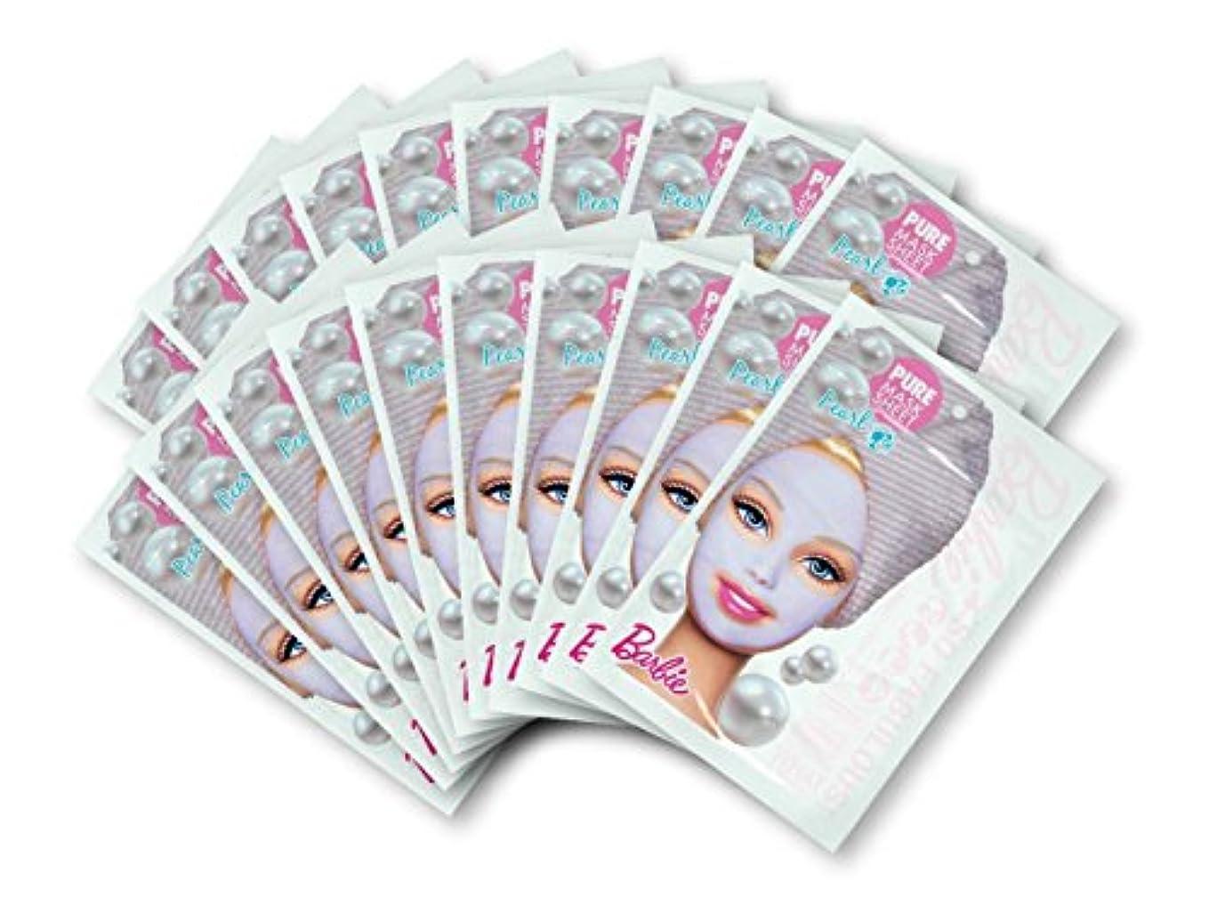 思われる電気技師無能バービー (Barbie) フェイスマスク ピュアマスクシートN (パール) 25ml×20枚入り [保湿] 顔 シートマスク フェイスパック