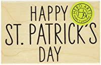 Hero Arts Happy St. Patrick's Day Mounted Rubber Stamp, 2.25' by 1.5' [並行輸入品]