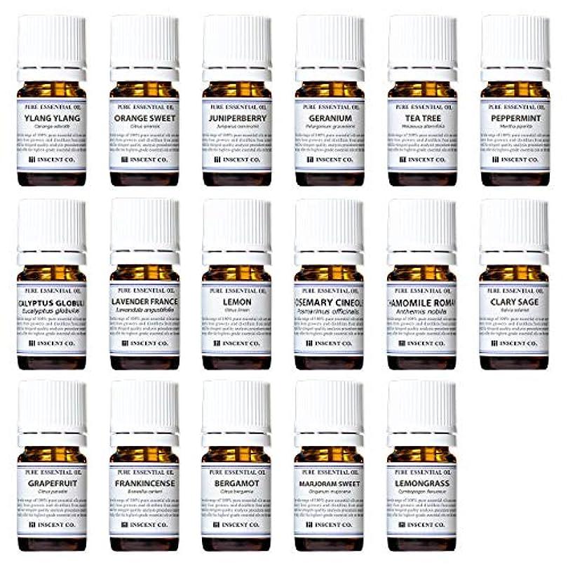 尾キャンパス動くアロマテラピー検定香りテスト対応17種セット エッセンシャルオイル 精油 AEAJ インセント