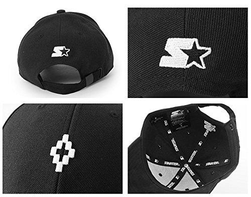 MARCELO BURLON マルセロバーロン CMLB 008 F17 017110 STARTER PELKEN CAP ロゴ 刺繍 キャップ 帽子 サイズ/F カラー1001/ブラック [並行輸入品]