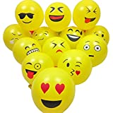CA-TING 風船 バルーン 絵文字 emoji 笑顔 気球 記念日 贈り物 パーティー飾り文化祭 学園祭 飾り付け 誕生日 結婚式 パーティー お祝い(100個)12インチ