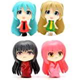 4 pcs (1 Set) Cute Cartoon Girls Toys Figurines Playset, Mini Cute Toy Garden Cake Plant Decoration
