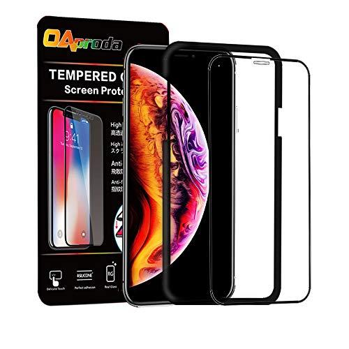 OAproda iPhoneXS Max ガラスフィルム 強化液晶フィルム 全面フルカバー【全面保護/存在感ゼロ / 画...