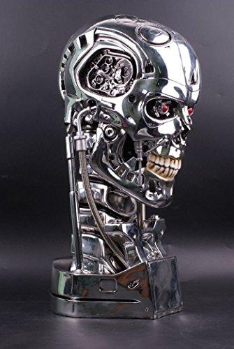 YTMR Terminator 2 T800 ターミネータ シュワルツェネッガー 塑像 スカル バスト バトル バージョン 1:1スケール 金属色