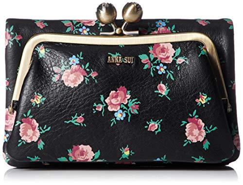 [アナ スイ] 折り財布 外口金二つ折り財布 リトルローズ 314300 ブラック