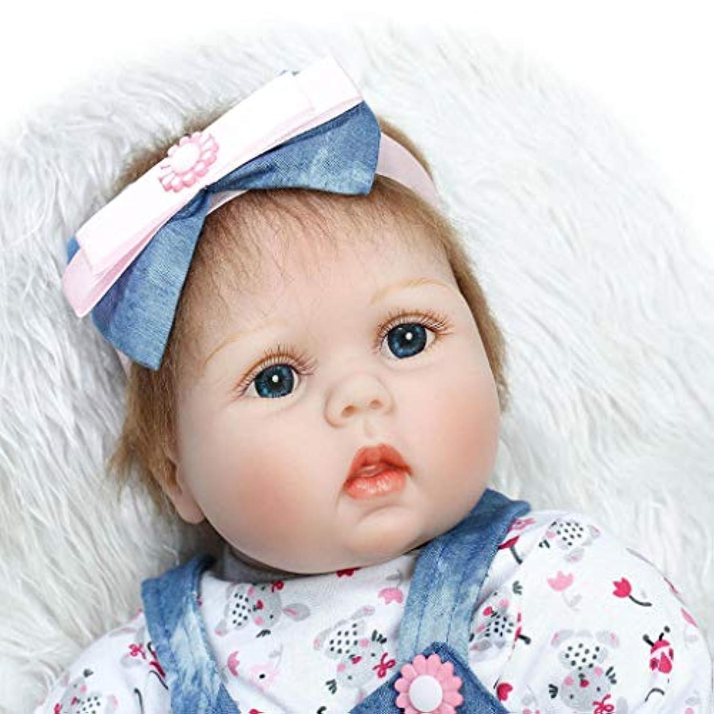 Sannysis リボーン 幼児 ベビードール 人工ガール 22インチ ビニール シリコン 生きているようなおもちゃ