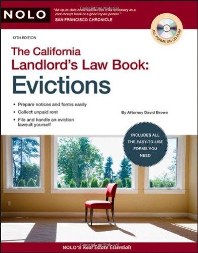Download The California Landlord's Law Book: Evictions (California Landlord's Law Book Vol 2 : Evictions) 1413309348