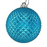 Best Vickermanクリスマスツリー - Vickerman 529805-2.75インチ ターコイズ デュリアン グリッターボール クリスマスツリーオーナメント (12個パック) (N188412D) Review
