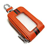 セレナC27 スマートキーケース 日産 本革 レザー カバー 窓付き 入れたまま操作可能 選べるカラー オレンジ