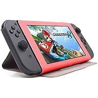F.G.S Nintendo Switch ケース 任天堂 nintendo switch カバー スタンド ニンテンドー スイッチ スリム カバー ニンテンドー本体保護ケース オレンジ 全7色 F.G.S正規代理品