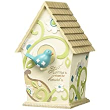 Perfectly Paisley Home Decorative Birdhouse, Inscription Home Is Where The Heart Is