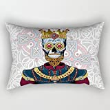 Skull Throw Cushion Covers 16 X 24 Inches / 40 By 60 Cm Best Choice For Adults,festival,saloon,birthday,club,festival With Both Sides