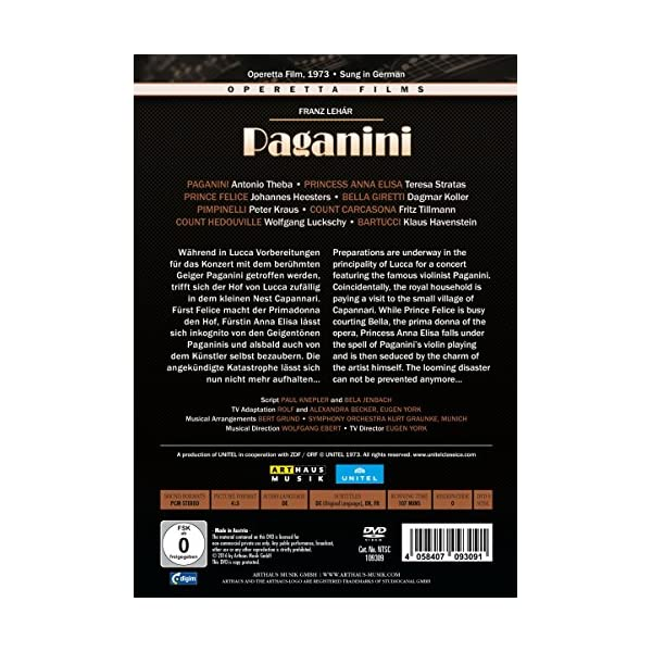 Lehar: Paganini [DVD]の紹介画像2