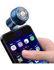 iCaree 旅行電話シェーバー男性用ミニUSBスマートフォントリマー用Android携帯電話屋外ポータブルマイクロUSB電気シェーバー