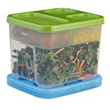 Rubbermaid Lunch Blox Container Salad Kit, Green/Clear (1806179)
