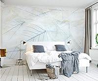 Minyose カスタム壁紙家の装飾的なフレスコ画の単純な葉Surya TVの壁の背景壁3D 壁紙-250cmx175cm