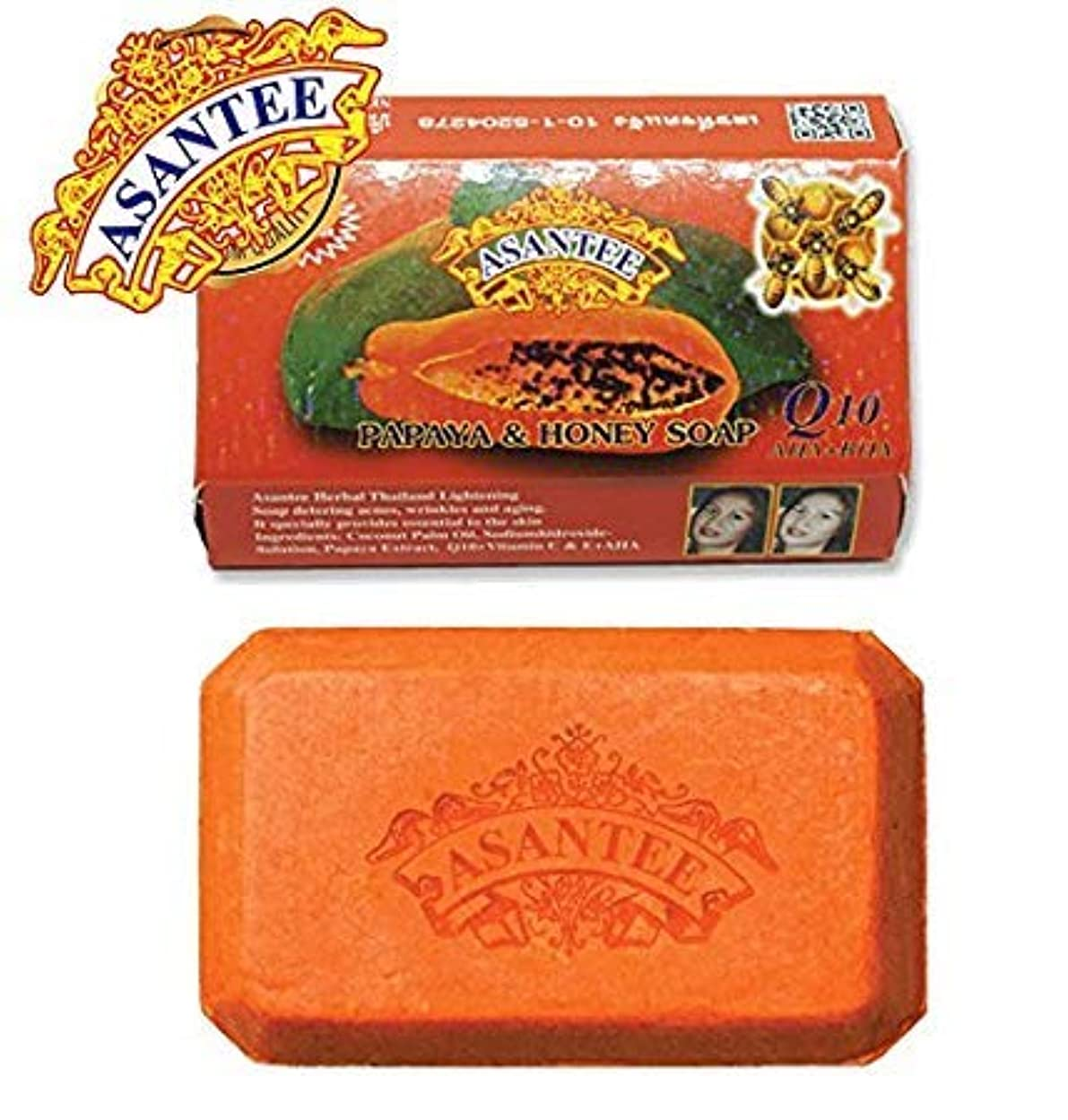 誕生神秘出しますAsantee Thai Papaya Herbal Skin Whitening Soap 135g (1 pcs)