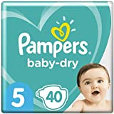 Pampers Baby-Dry Tape Diapers (11kg-16kg) Size 5 Walker, 40 count