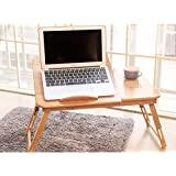 Bamboo Laptop Computer Foldable Desk and Stand/Work Standing