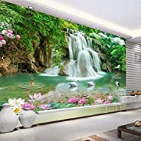 Weaeo 中国の魚の滝鳥壁画の壁紙寝室のデスクトップの壁紙のための現代ファッション3D壁紙の風景-280X200Cm