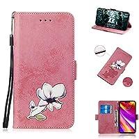 Samsung Galaxy J4 Plus 財布 シェル, MeetJP Samsung Galaxy J4 Plus フリップ シェル, 上品な スリム レザー 財布, ID クレジット カード スロット ホルダー の Samsung Galaxy J4 Plus - Pink