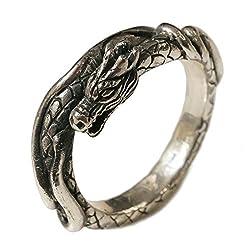 シルバー925 メンズ レディース リング 竜 ドラゴン 龍モチーフの指輪