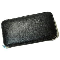 (ヴァレクストラ)Valextra 長財布 ラウンドファスナー (ブラック) V9L06-029-000N VX-23 [並行輸入品]