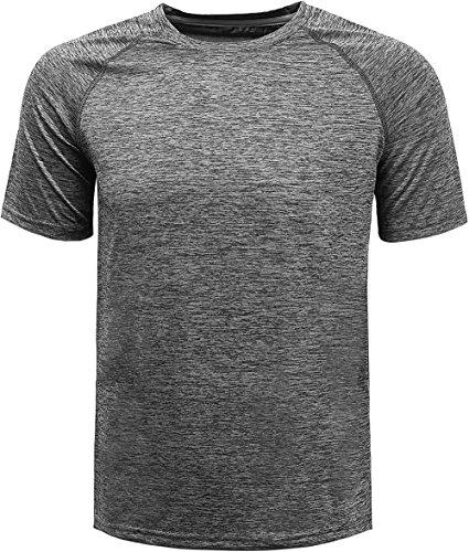コンプレックス(KomPrexx) メンズ トレーニング t シャツ 吸汗速乾 ドライ クルーネック 半袖(Gray,2XL)