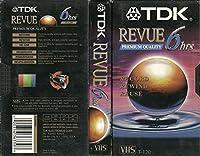 TDK空白VHSテープ:プレミアム品質Revue ( 4パック) 6hrs ( T - 120)