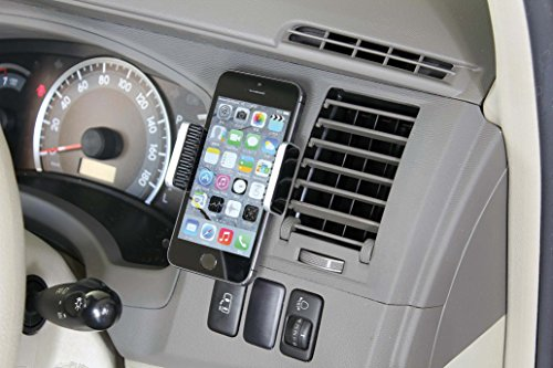 ナポレックス 車用スマホホルダー Fizz スマートフォンホルダー ブラック/サテンメッキ 抗菌部材使用 汎用 Fizz-986