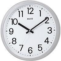 掛け時計 フラットフェイスDN シルバー DAILY 4KGA06DN19