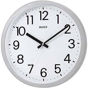 DAILY(リズム時計) 見易い スタンダード クォーツ時計 フラットフェイスDN 白文字盤 4KGA06DN19