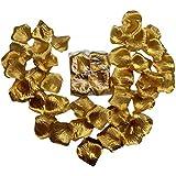 [ワズチヨ] フラワーシャワー 花びら 造花 ウェディング バラ 花びら 結婚式 誕生会 2次会 パーティー の演出に花びら 1000枚 セット ゴールド