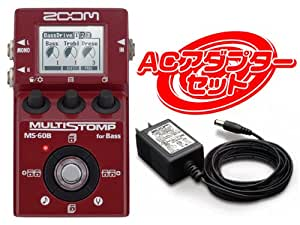 ZOOM MS-60B MULTI STOMP for Bass + ACアダプター AD-16 セット